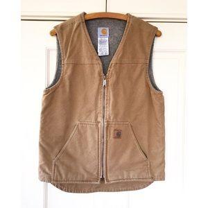 Carhartt men's cotton canvas brown vest S